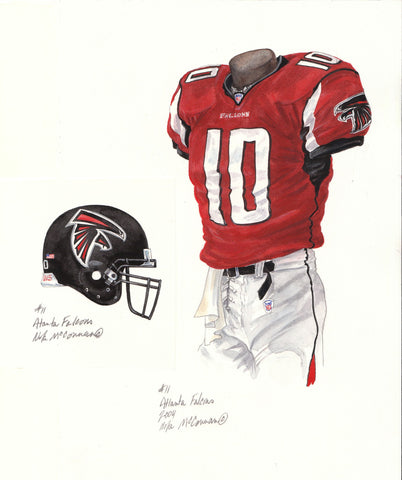 Atlanta Falcons 2004 - Heritage Sports Art - original watercolor artwork - 1