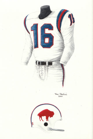 Buffalo Bills 1964 - Heritage Sports Art - original watercolor artwork - 1