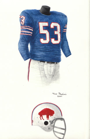 Buffalo Bills 1965 - Heritage Sports Art - original watercolor artwork - 1