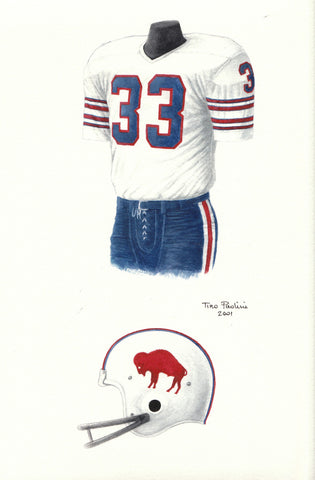 Buffalo Bills 1973 - Heritage Sports Art - original watercolor artwork - 1