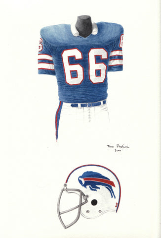 Buffalo Bills 1975 - Heritage Sports Art - original watercolor artwork - 1