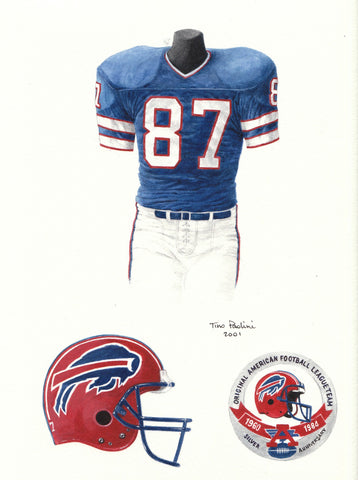 Buffalo Bills 1984 - Heritage Sports Art - original watercolor artwork - 1