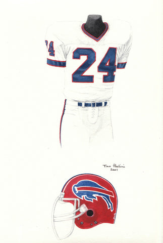 Buffalo Bills 1988 - Heritage Sports Art - original watercolor artwork - 1