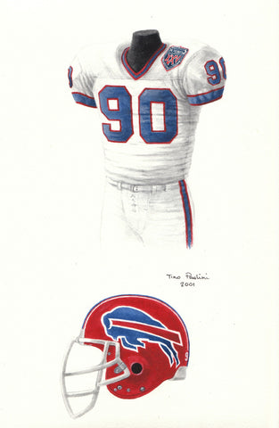 Buffalo Bills 1990 - Heritage Sports Art - original watercolor artwork - 1