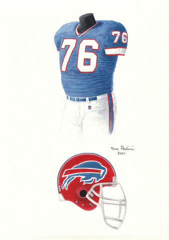 Buffalo Bills 1991 - Heritage Sports Art - original watercolor artwork - 1