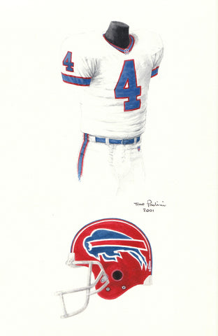 Buffalo Bills 1993 - Heritage Sports Art - original watercolor artwork - 1