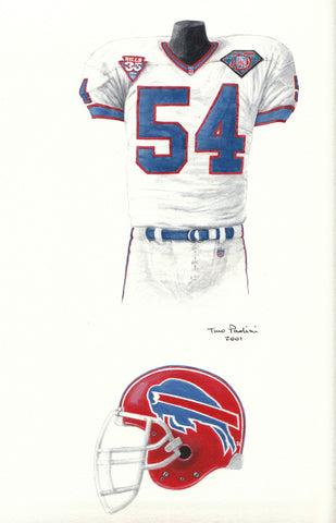 Buffalo Bills 1994 - Heritage Sports Art - original watercolor artwork - 1