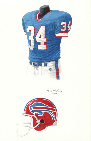 Buffalo Bills 2000 - Heritage Sports Art - original watercolor artwork - 1