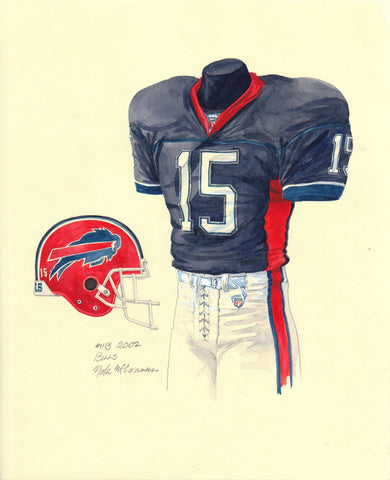 Buffalo Bills 2002 - Heritage Sports Art - original watercolor artwork - 1