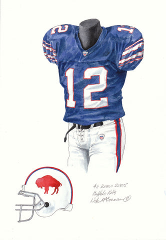 Buffalo Bills 2005 - Heritage Sports Art - original watercolor artwork - 1