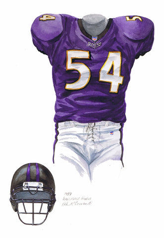 Baltimore Ravens 1997 - Heritage Sports Art - original watercolor artwork - 1