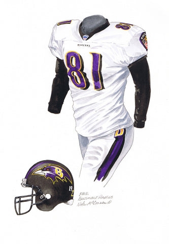 Baltimore Ravens 2002 - Heritage Sports Art - original watercolor artwork - 1