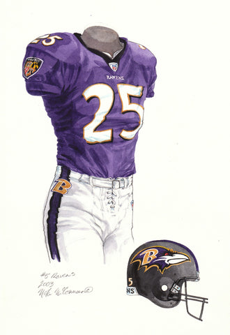 Baltimore Ravens 2003 - Heritage Sports Art - original watercolor artwork - 1