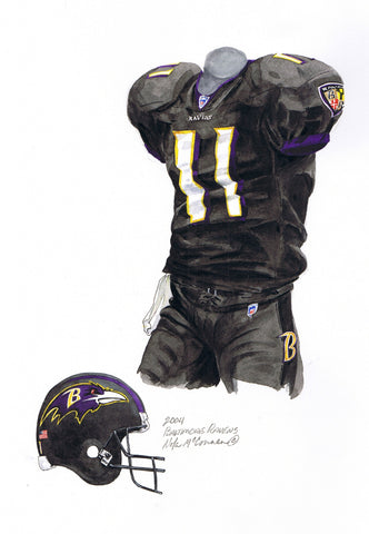 Baltimore Ravens 2005 - Heritage Sports Art - original watercolor artwork - 1