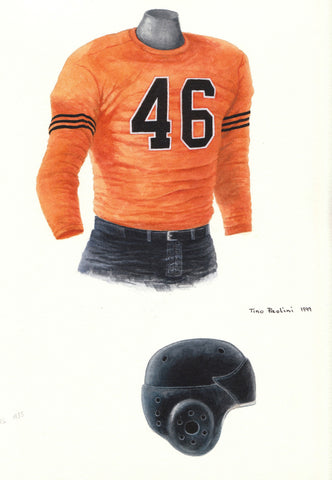 Chicago Bears 1935 - Heritage Sports Art - original watercolor artwork - 1