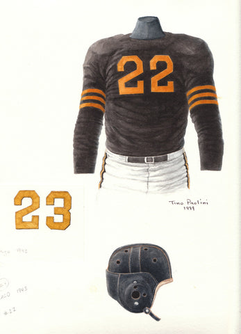 Chicago Bears 1943 - Heritage Sports Art - original watercolor artwork - 1