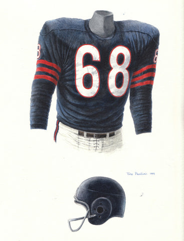 Chicago Bears 1958 - Heritage Sports Art - original watercolor artwork - 1