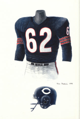Chicago Bears 1963 - Heritage Sports Art - original watercolor artwork - 1