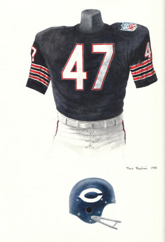 Chicago Bears 1969 - Heritage Sports Art - original watercolor artwork - 1
