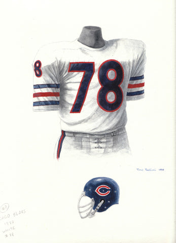 Chicago Bears 1977 - Heritage Sports Art - original watercolor artwork - 1