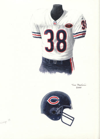 Chicago Bears 2000 - Heritage Sports Art - original watercolor artwork - 1