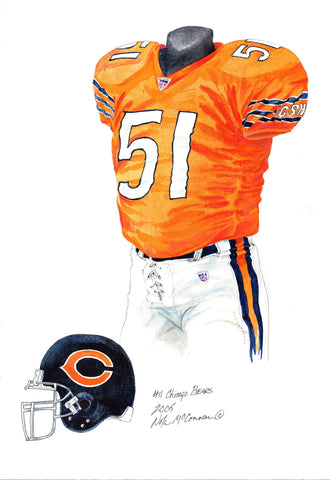 Chicago Bears 2005 - Heritage Sports Art - original watercolor artwork - 1