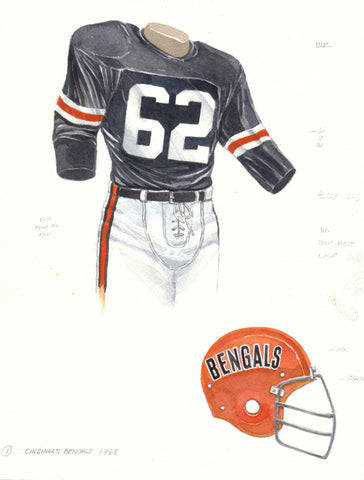 Cincinnati Bengals 1968 - Heritage Sports Art - original watercolor artwork - 1
