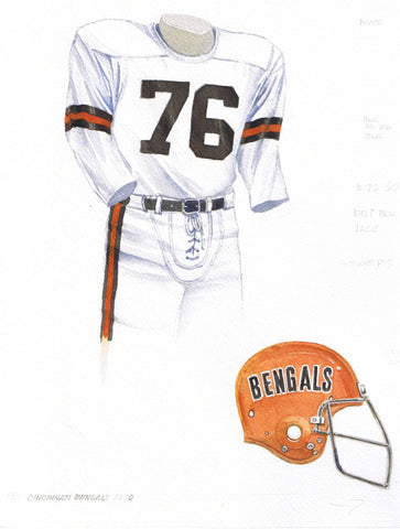 Cincinnati Bengals 1970 - Heritage Sports Art - original watercolor artwork - 1