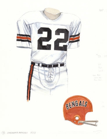 Cincinnati Bengals 1973 - Heritage Sports Art - original watercolor artwork - 1