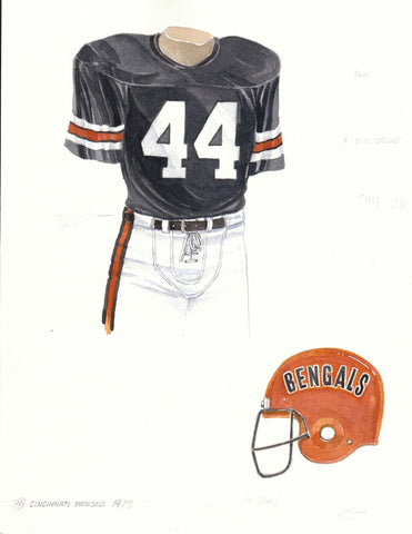 Cincinnati Bengals 1975 - Heritage Sports Art - original watercolor artwork - 1