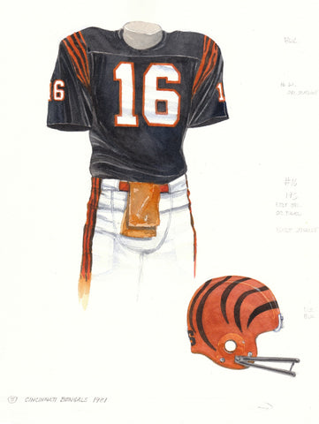 Cincinnati Bengals 1981 - Heritage Sports Art - original watercolor artwork - 1