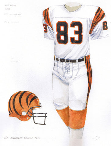 Cincinnati Bengals 1986 - Heritage Sports Art - original watercolor artwork - 1