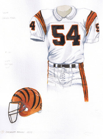 Cincinnati Bengals 1988 - Heritage Sports Art - original watercolor artwork - 1