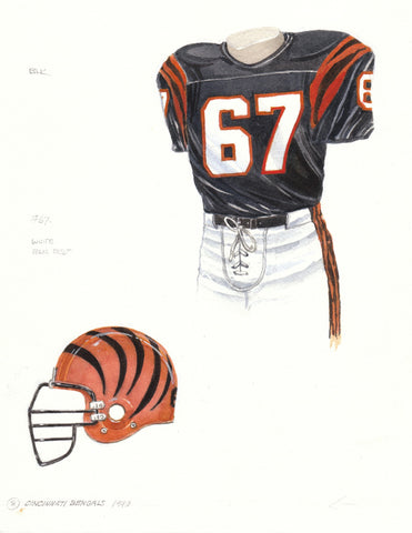 Cincinnati Bengals 1990 - Heritage Sports Art - original watercolor artwork - 1