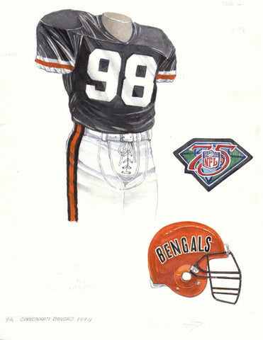 Cincinnati Bengals 1994 - Heritage Sports Art - original watercolor artwork - 1