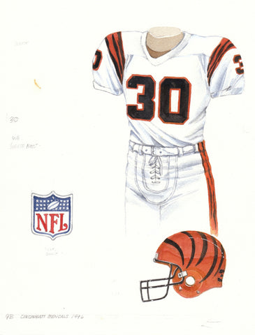 Cincinnati Bengals 1996 - Heritage Sports Art - original watercolor artwork - 1