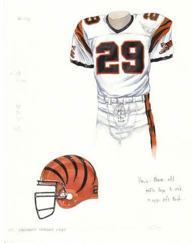Cincinnati Bengals 1997 - Heritage Sports Art - original watercolor artwork - 1