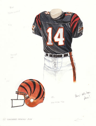 Cincinnati Bengals 2001 - Heritage Sports Art - original watercolor artwork - 1
