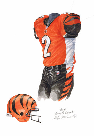 Cincinnati Bengals 2004 - Heritage Sports Art - original watercolor artwork - 1