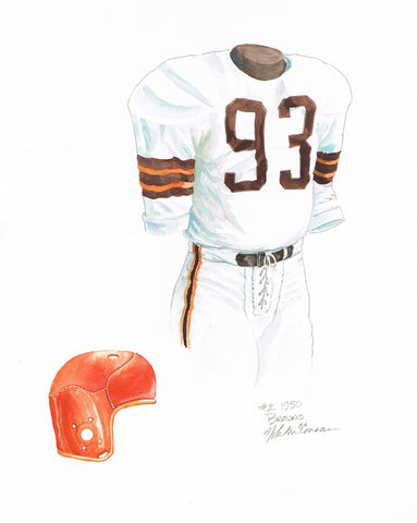 Cleveland Browns 1950 - Heritage Sports Art - original watercolor artwork - 1