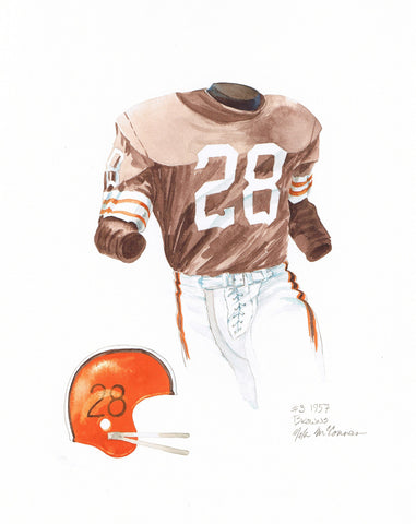 Cleveland Browns 1957 - Heritage Sports Art - original watercolor artwork - 1