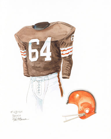 Cleveland Browns 1964 Brown - Heritage Sports Art - original watercolor artwork - 1