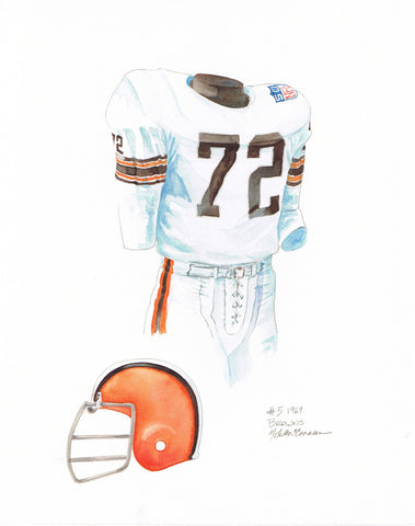 Cleveland Browns 1969 - Heritage Sports Art - original watercolor artwork - 1