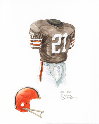 Cleveland Browns 1972 - Heritage Sports Art - original watercolor artwork - 1
