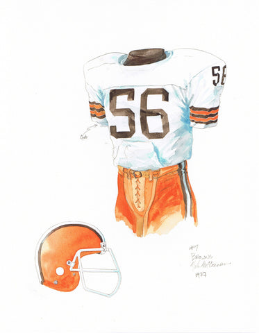 Cleveland Browns 1977 - Heritage Sports Art - original watercolor artwork - 1