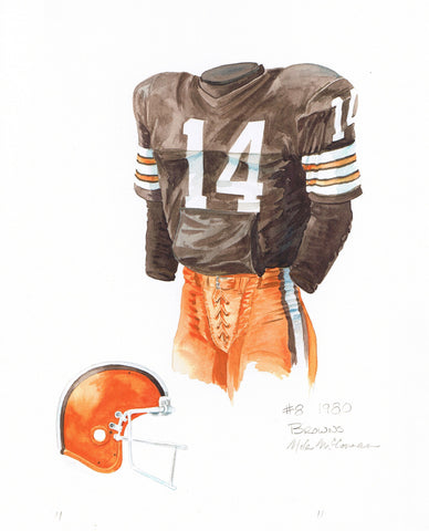 Cleveland Browns 1980 - Heritage Sports Art - original watercolor artwork - 1