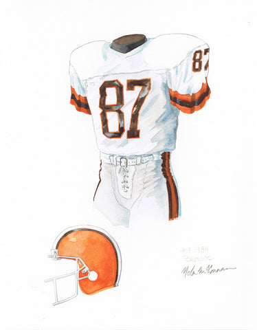 Cleveland Browns 1984 - Heritage Sports Art - original watercolor artwork - 1