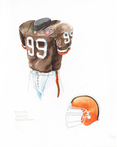 Cleveland Browns 1994 - Heritage Sports Art - original watercolor artwork - 1