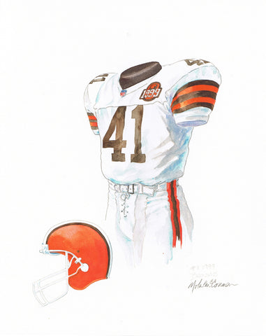 Cleveland Browns 1999 - Heritage Sports Art - original watercolor artwork - 1