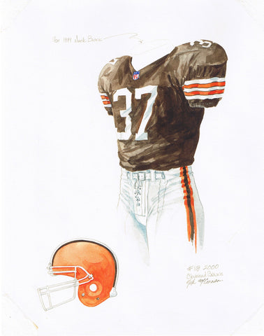 Cleveland Browns 2000 - Heritage Sports Art - original watercolor artwork - 1